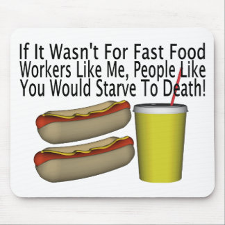 Fast Food Worker Mouse Pad
