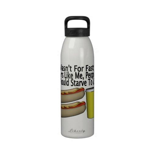 Fast Food Worker Reusable Water Bottles