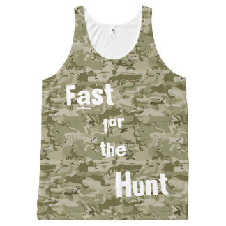 Fast for the Hunt Camo Tank All-Over Print Tank Top