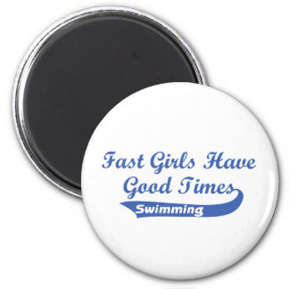 Fast Girls Have Good Times (Blue) Refrigerator Magnets