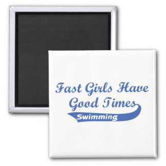 Fast Girls Have Good Times (Blue) Magnets