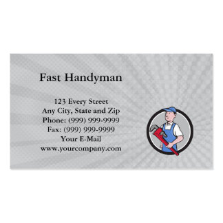 Handyman cartoon business cards templates zazzle for Get business cards fast