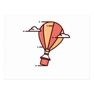 Fast Hot Air Balloon Postcard