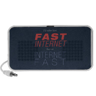 Fast Internet, not Internet Fasts Travelling Speaker
