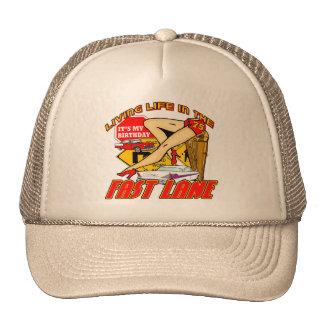 Fast Lane 75th Birthday Gifts Trucker Hat