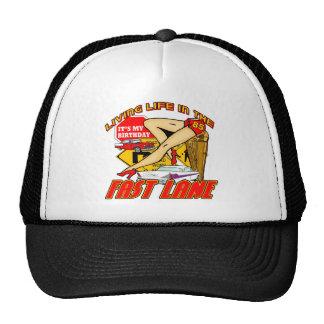 Fast Lane 85th Birthday Gifts Trucker Hat