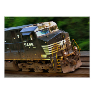 Fast Locomotive Poster