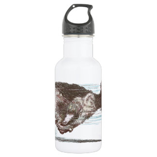 Fast Moving Cat 18oz Water Bottle