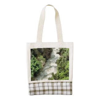 Fast moving river zazzle HEART tote bag
