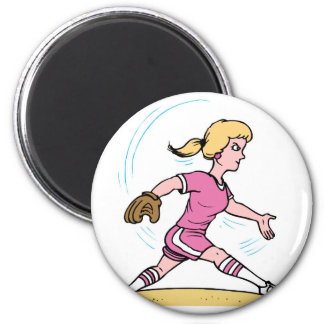 Fast Pitch 2 Inch Round Magnet