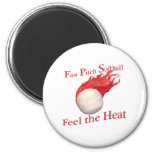 Fast Pitch Softball Feel the Heat Refrigerator Magnets