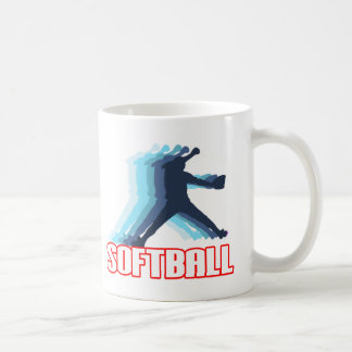 Fast Pitch Softball Silhouette Coffee Mug