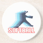 Fast Pitch Softball Silhouette Drink Coaster
