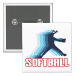 Fast Pitch Softball Silhouette Pin