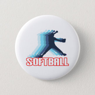 Fast Pitch Softball Silhouette Pinback Button