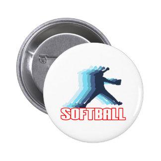 Fast Pitch Softball Silhouette Pinback Button