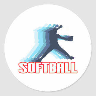 Fast Pitch Softball Silhouette Stickers