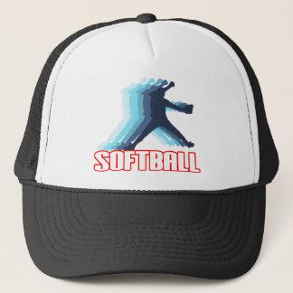 Fast Pitch Softball Silhouette Trucker Hat