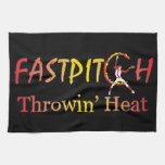 Fast Pitch Softball Version 1 Kitchen Towels