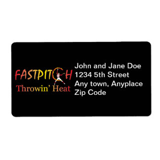 Fast Pitch Softball Version 1 Shipping Label