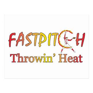 Fast Pitch Softball Version 1 Postcard