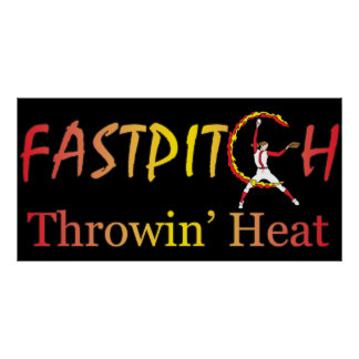 Fast Pitch Softball Version 1 Poster