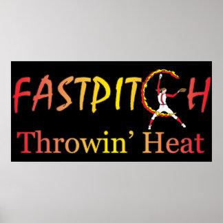 Fast Pitch Softball Version 1 Print