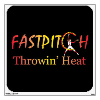 Fast Pitch Softball Version 1 Wall Decal