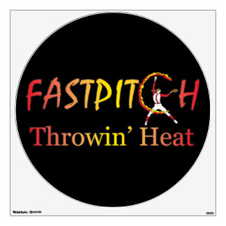 Fast Pitch Softball Version 1 Room Decal