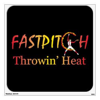Fast Pitch Softball Version 1 Wall Sticker