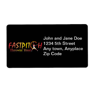 Fast Pitch Softball Version 2 Shipping Label