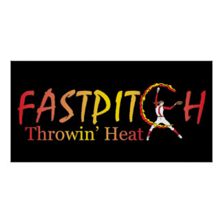 Fast Pitch Softball Version 2 Posters