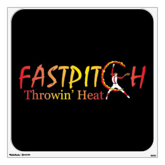 Fast Pitch Softball Version 2 Wall Decal