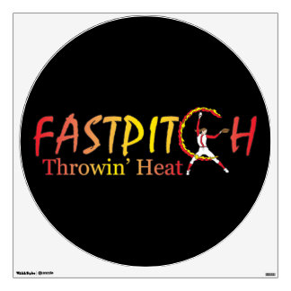 Fast Pitch Softball Version 2 Wall Sticker