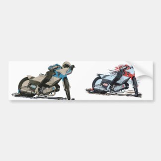 Fast Red Speedway Motorcycle Bumper Sticker