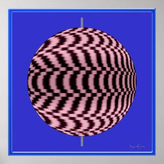 Fast Rotating Ball Optical Illusion Poster