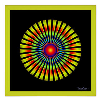 Fast Rotating Propeller Optical Illusion Poster