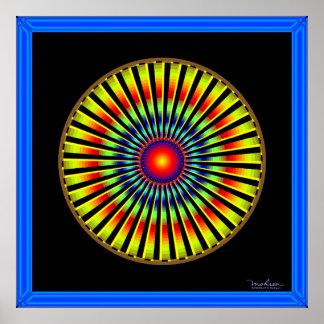 Fast Rotating Turbine Optical Illusion Poster