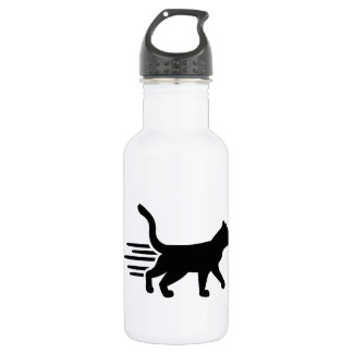 Fast running cat 18oz water bottle