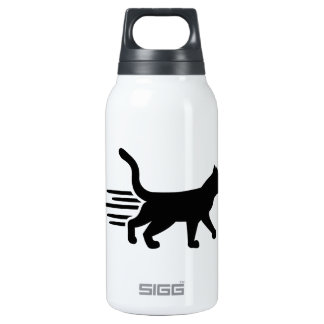 Fast running cat 10 oz insulated SIGG thermos water bottle