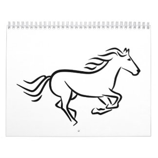 Fast running horse calendar