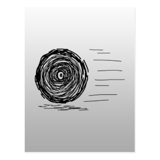 Fast. Rush. Symbol in Black on Gray. Postcard