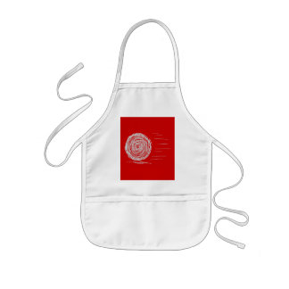 Fast. Rush. Symbol in Gray on Red. Kids' Apron