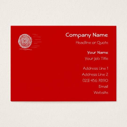Fast. Rush. Symbol in Gray on Red. Business Card
