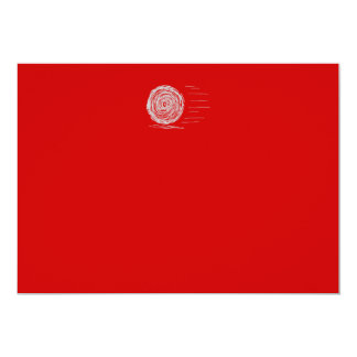 Fast. Rush. Symbol in Gray on Red. Card