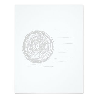 Fast. Rush. Symbol in Gray on White. Card