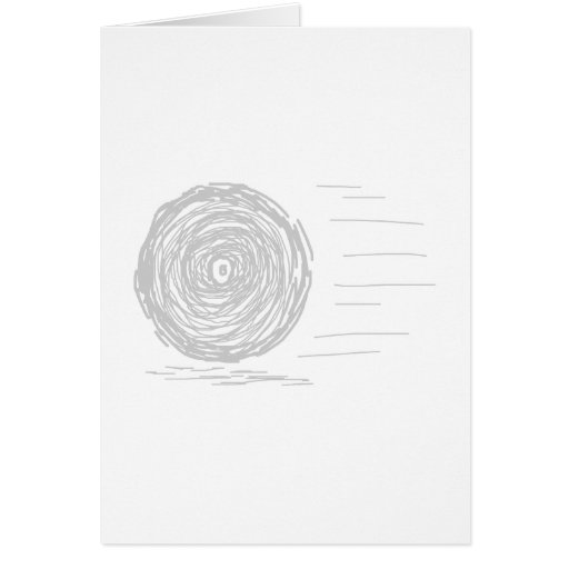 Fast. Rush. Symbol in Gray on White. Greeting Card
