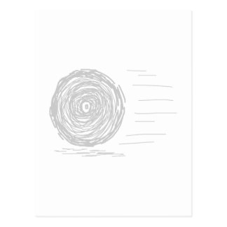 Fast. Rush. Symbol in Gray on White. Postcard