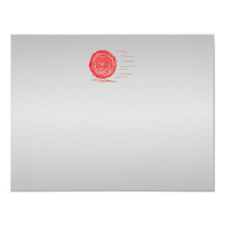Fast. Rush. Symbol in Red on Gray. Card