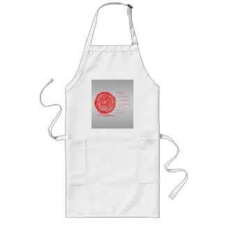 Fast. Rush. Symbol in Red on Gray. Long Apron